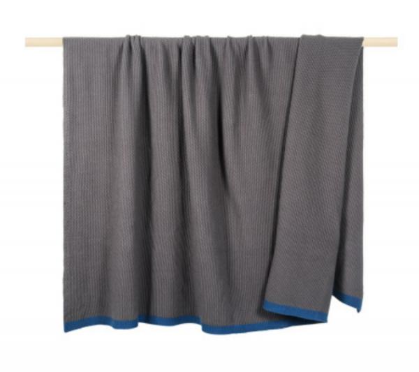Decke Magic grau-blau