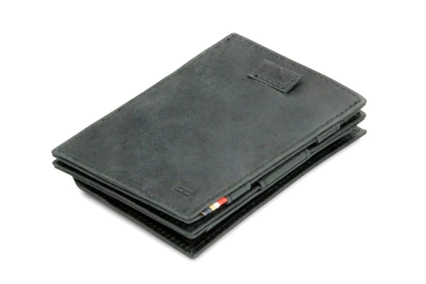 Garzini Cavare Coin Magic Wallet black brushed