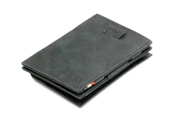 Garzini Cavare Coin Magic Wallet black brushed